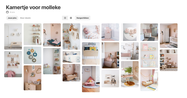 Pinterestbord babykamer